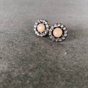Anthropologie Blush earrings Swarovski